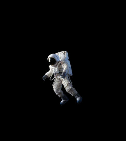 American Astronaut wearing pressure suit.