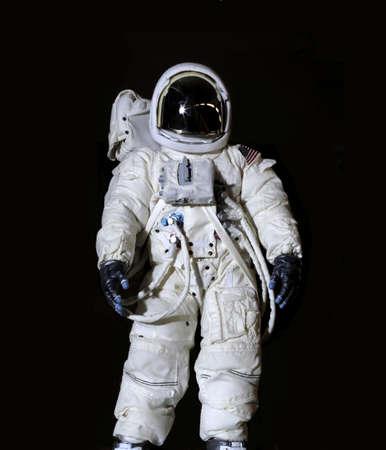 미국 우주 비행사는 압력 양복을 입고. 스톡 콘텐츠