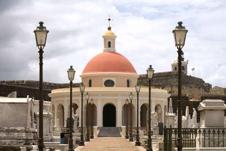Mausoleum in cemetery in Old San Juan Puerto Rico.
