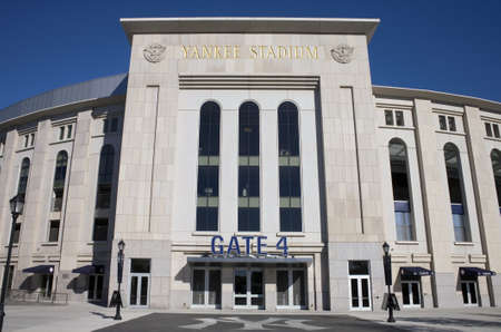BRONX, NEW YORK - SEPTEMBER 14: Yankee Stadium sports building.  Taken September 14, 2010 in the Bronx, New York.