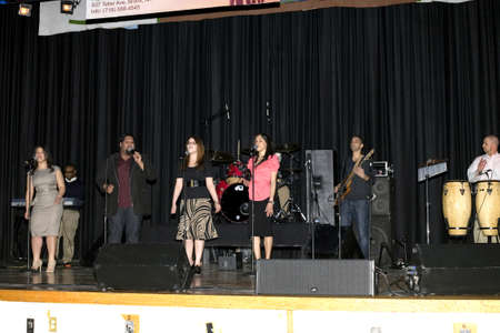 bronx county: Bronx, New York - April 9: The Pentecostal Christian music group called to worship performs at Lehman High School on April 9, 2011 in the County of the Bronx, NY.