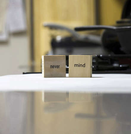 Wooden blocks that show words