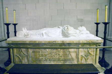 john henry: Sarcophagus for Bishop Horatio Potter at the Cathedral of St. John the Divine.  Amsterdam Avenue New York, NY