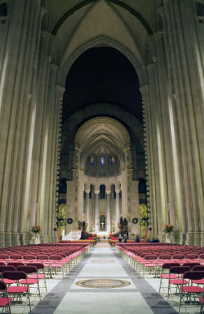 The Cathedral of St. John the Divine.  Amsterdam Avenue New York, NY  (between West 110th Street and 113 Street).    Stock Photo - 10321417