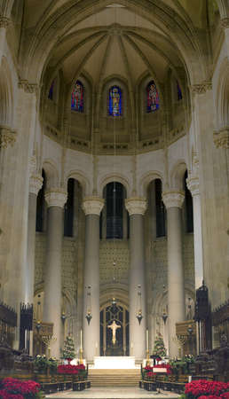 The Cathedral of St. John the Divine.  Amsterdam Avenue New York, NY  (between West 110th Street and 113 Street).    Stock Photo - 10321543
