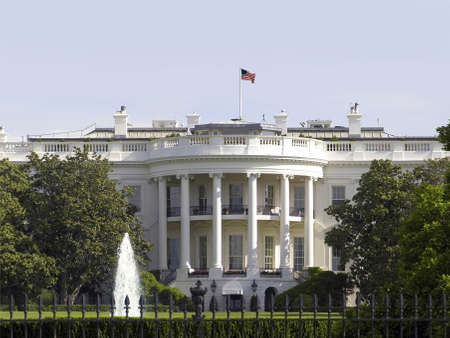 The  White House building located in Washington DC in the USA.