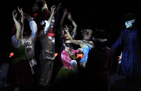 NEW YORK, NEW YORK - NOVEMBER 15: Circus dancers perform during Big Apple Circus show.  Taken November 15, 2007 in New York City. Editorial