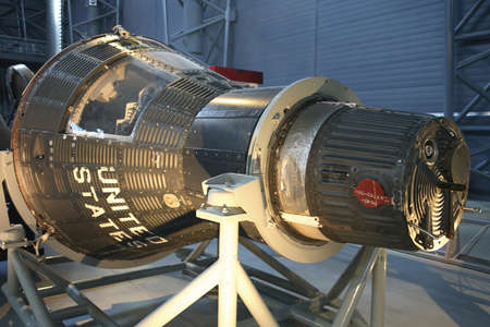 CHANTILLY, VIRGINIA - AUGUST 15: Mercury Capsule 15B Freedom 7II.  Photographed  inside the National Air and Space Museum Editorial