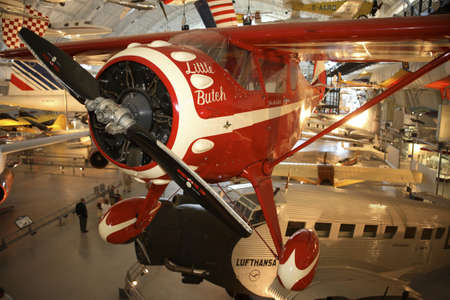chantilly: CHANTILLY, VIRGINIA - AUGUST 15: Monocoupe 110 Special - Little Butch.  Photographed  inside the National Air and Space Museum Editorial