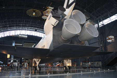 CHANTILLY, VIRGINIA - AUGUST 15: Space Shuttle Enterprise at the National Air and Space Museum