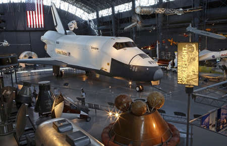 CHANTILLY, VIRGINIA - AUGUST 15: Space Shuttle at the National Air and Space Museum Editorial