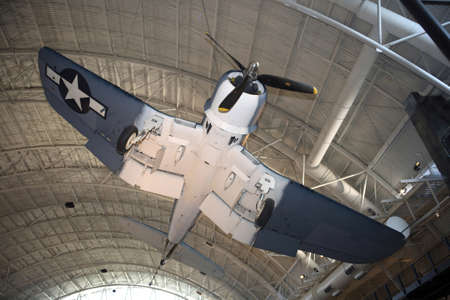 f 15: CHANTILLY, VIRGINIA - AUGUST 15: Photo of the Vought F4U-1D Corsair at the National Air and Space Museums Steven F. Udvar-Hazy Center.   Taken August 2007 in Chantilly, Virginia.