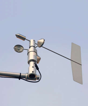 anemometer: Wind and speed instrument.   This one was being used to measure air speed.   Stock Photo