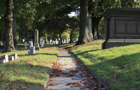 Several graves inside an old historic cemetery. Stock Photo - 10333342