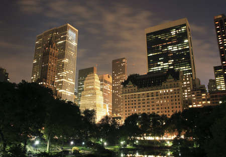 Central Park with buildings in view in New York City.