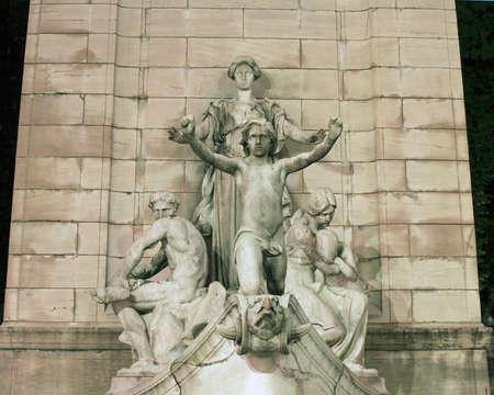 Columbus Circle statue in New York City. 版權商用圖片