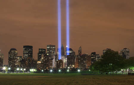 HOBOKEN, NEW JERSEY - SEPTEMBER 11: View of Ground Zero.  Image taken September 11, 2008 in Hoboken, New Jersey. Stock Photo - 10331786