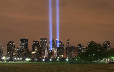 HOBOKEN, NEW JERSEY - SEPTEMBER 11: View of Ground Zero.  Image taken September 11, 2008 in Hoboken, New Jersey. Stock Photo - 10331786