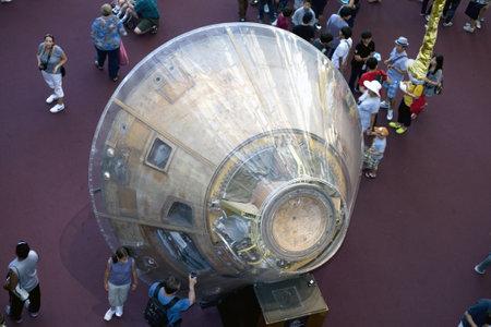 WASHINGTON, DC - JULY 9: Apollo 11 Command Module  Taken July 9, 2011 in Smithsonian National Air & Space Museum, Washington, DC.   Stock Photo - 10331804