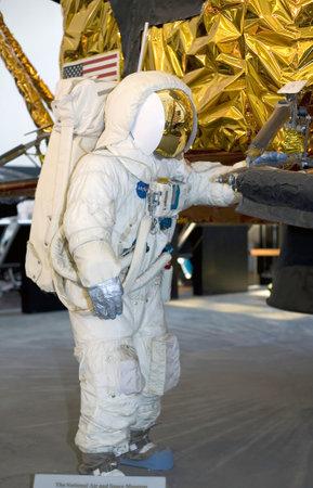 module: WASHINGTON, DC - JULY 9: Apollo Lunar Module Astronaut . Taken July 9, 2011 in Smithsonian National Air & Space Museum, Washington, DC.