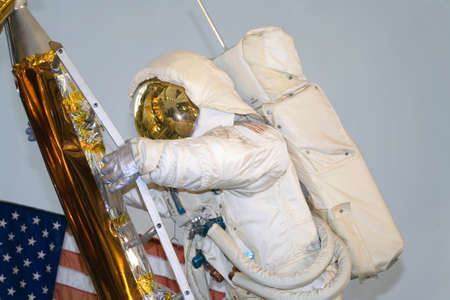 WASHINGTON, DC - JULY 9: Apollo Lunar Module Astronaut . Taken July 9, 2011 in Smithsonian National Air & Space Museum, Washington, DC.