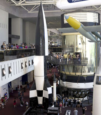 WASHINGTON, DC - JULY 9: Gallery 114 on the space race inside the Smithsonian National Air and Space Museum. Taken July 9, 2011 in  Washington, DC.