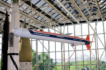 WASHINGTON, DC - JULY 9: Tomahawk cruise missile. Taken July 9, 2011 in Smithsonian National Air & Space Museum, Washington, DC.