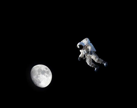 Astronaut with moon