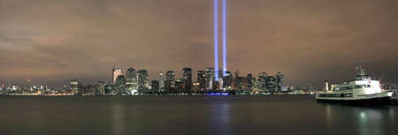 HOBOKEN, NEW JERSEY - SEPTEMBER 11: View of Ground Zero.  Image taken September 11, 2008 in Hoboken, New Jersey. Stock Photo - 10444532