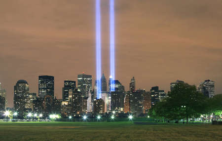 wtc: View of Ground Zero.  Image taken September 11, 2008 in Hoboken, New Jersey.