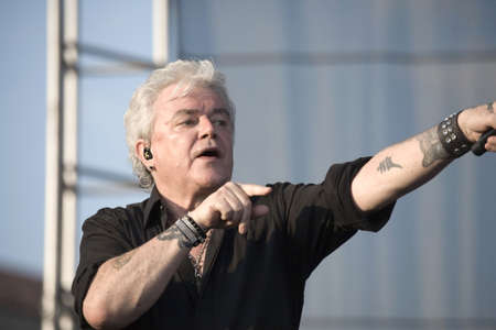 district of columbia: WASHINGTON, DC - JULY 9: Russell Hitchcock of the band Air Supply performs live outdoors. Taken July 9, 2011 in Washington, DC.   Editorial