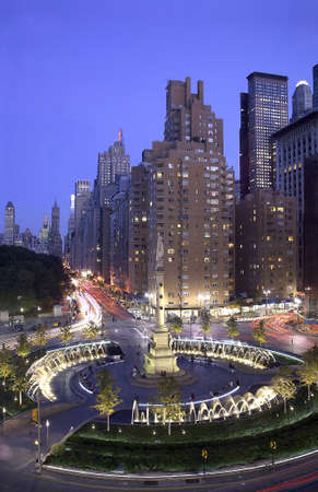 Photo of Columbus Circle located in New York City, USA Editorial