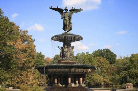 Bethesda fountain in Central Park New York. photo