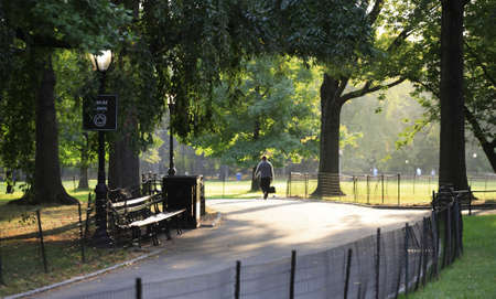 Early morning in Central Park near the great lawn in New York City. Stock Photo