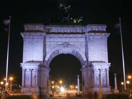 Soldiers and Sailors Arch at Grand Army Plaza near Prospect Park, Brooklyn, New York.