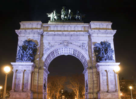 Soldiers and Sailors Arch at Grand Army Plaza near Prospect Park, Brooklyn, New York. photo