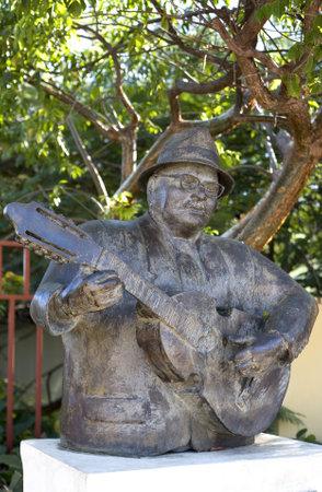 Guanica, PR - January 11:  Statue of legendary cuatro player Yomo Toro. Photographed January 11, 2011 in Puerto Rico.