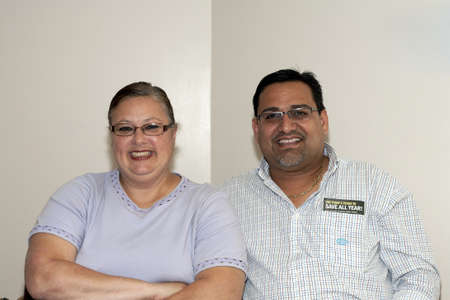 BRONX, NY - June 24:  Mayor of Guanica  Puerto Rico, Martín Vargas Morales sits with Minerva Toro, wife of  legendary cuatro player Yomo Toro in the waiting area during their visit to Yomo at the Hospital. Yomos health was failing at the time and was gr Editorial