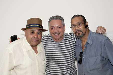 BRONX, NY - June 24:  Eddie Montalvo and friends during visit to legendary cuatro player Yomo Toro while he was in the Hospital. Yomo