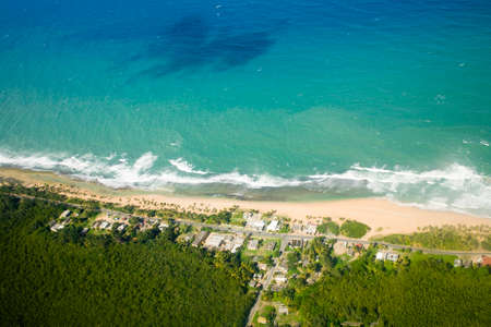 Aerial view of the Northern side of Puerto Rico.   Reklamní fotografie