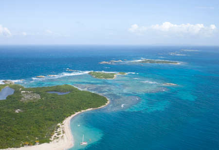 Aerial view of the Icacos and Lobos Island Puerto Rico.   photo