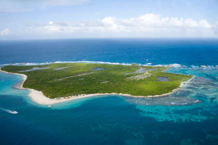 Aerial view of Icacos Island Puerto Rico. Stock Photo