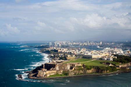 Aerial view of El Morro in Old San Juan Puerto Rico.   Reklamní fotografie