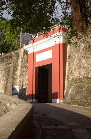 Old San Juan Gate or Puerta de San Juan in Puerto Rico.