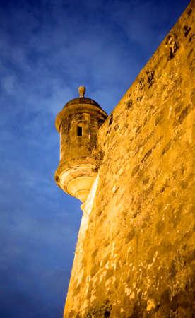 sentry: Sentry Box located on Old San Juan Puerto Rico City walls.