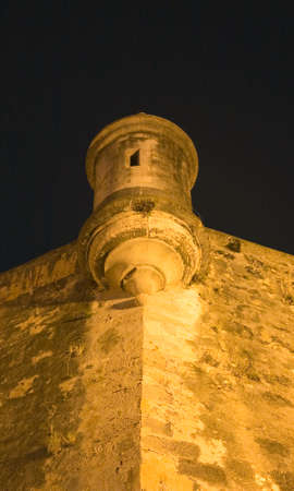 sentry: A Sentry Box located on the Old San Juan City walls in Puerto Rico. Stock Photo