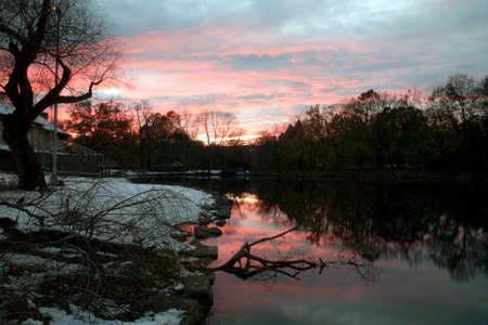 bronx county: Van Cortlandt Park in the County of the Bronx, New York in winter.