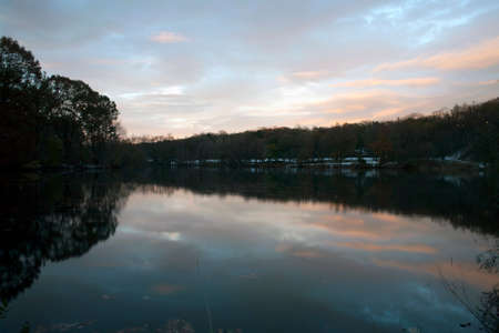 bronx county: Van Cortlandt park at sundown in the County of the Bronx, New York. Stock Photo