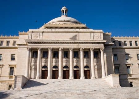 neo classical: City Hall casa alcaldia in San Juan Puerto Rico.  It is neo classical in design and the mayors home.