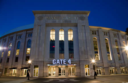 bronx county: BRONX, NEW YORK - JUNE 20: Yankee Stadium at twilight.   Taken June 20, 2014 in the County of the Bronx, NY. Editorial